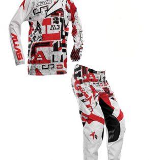 Jual jersey set alias corak merah