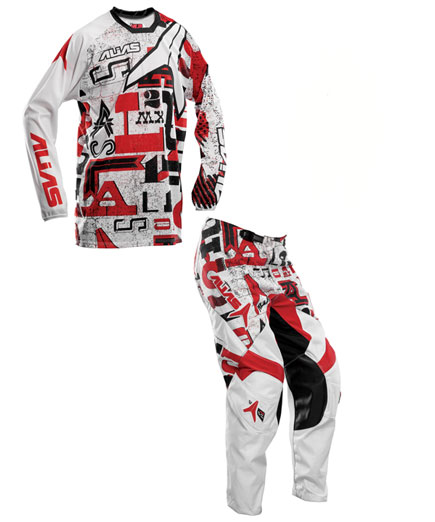 ALIAS A2 WRITTEN RED COMBO Jual jersey set alias corak merah
