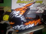 Jual helm trail ktm dynamic power parts uk XL dan L