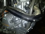 Jual ex pipe guard CARBON ktm 350.450.500