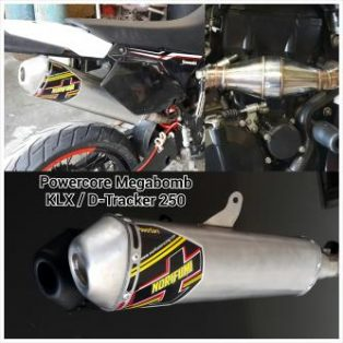 Jual knalpot dtracker 250/klx 250 merk norifumi full system mega bomb