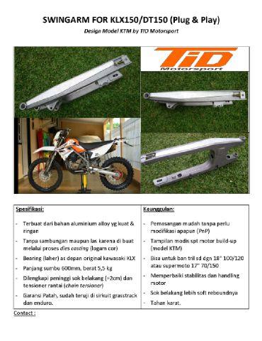 TID SwingArm Flayer ARM KLX 150 model KTM hrg 1.4 jt bahan almu untuk uk 18 dan 17