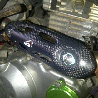HeAT protection carbon kevlar merk pro speed hrg 435 rb untuk semua motor trail khusus 4 stroke