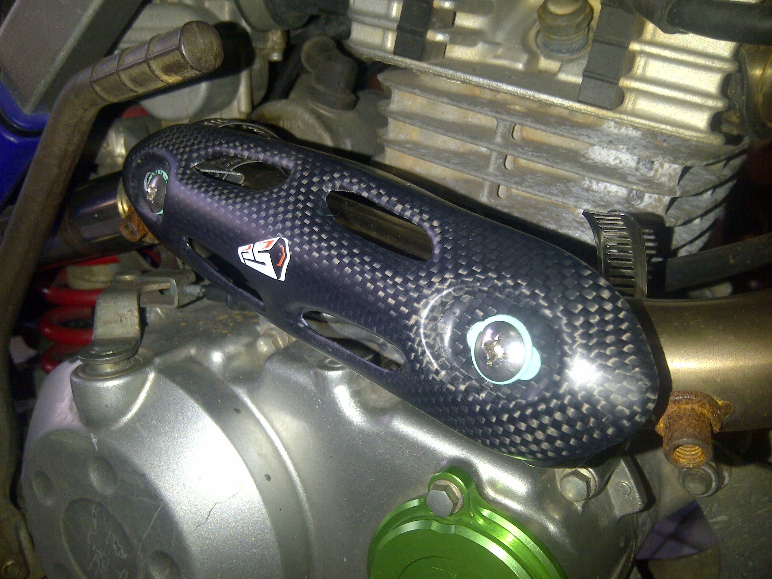 IMG 20140919 00204 HeAT protection carbon kevlar merk pro speed hrg 435 rb untuk semua motor trail khusus 4 stroke