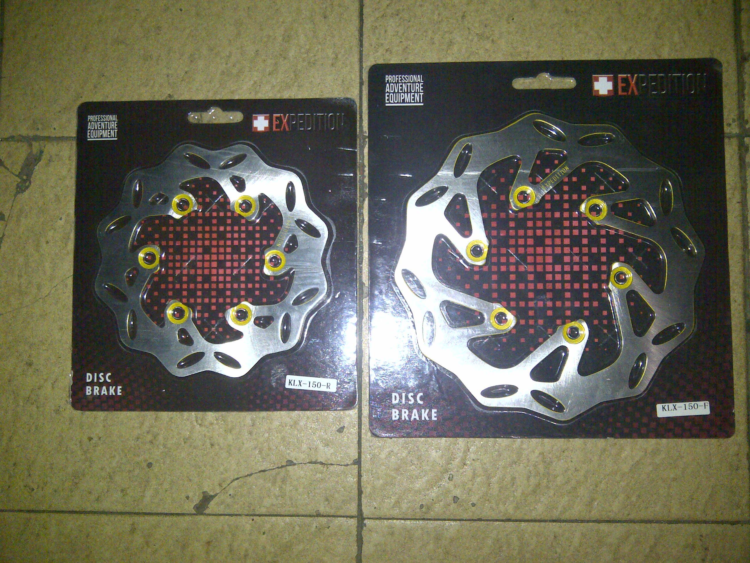 IMG 20140923 00241 piringan CAKRAM/disk depan belakang klx 150/dtracker 150 merk EXPDITION hrg 210rb