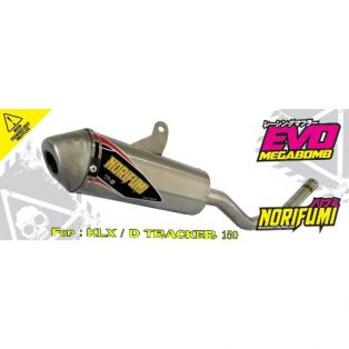 knalpot norifumi klx 150 full system mega bomb hrga 1,6 jt