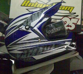 Robysteam dirt bike 2  SA  ID  helm trail merk KBC yamaha hrga 850rb