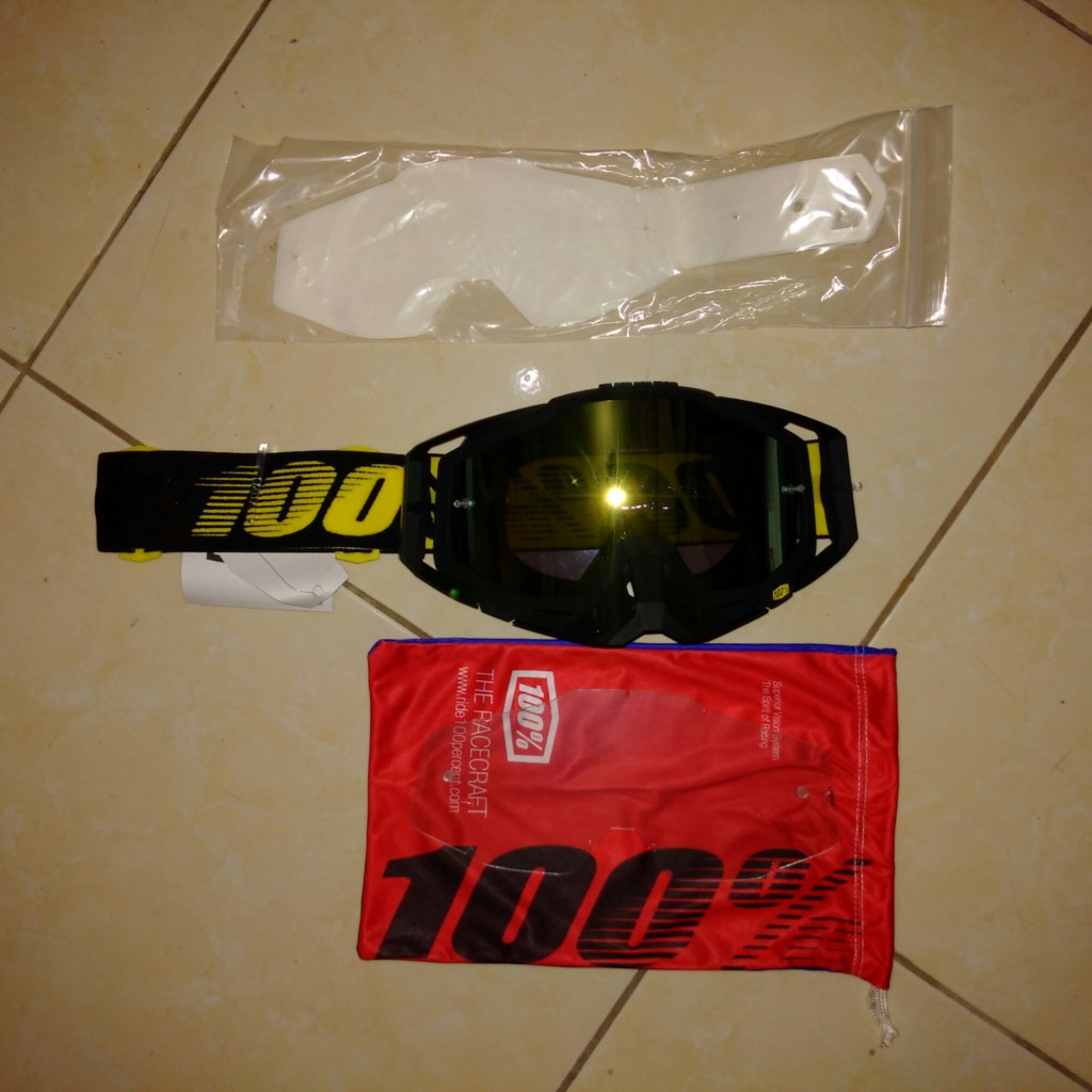Jual Goggle 100% race craft race day + tearoff + clear lens type 2016