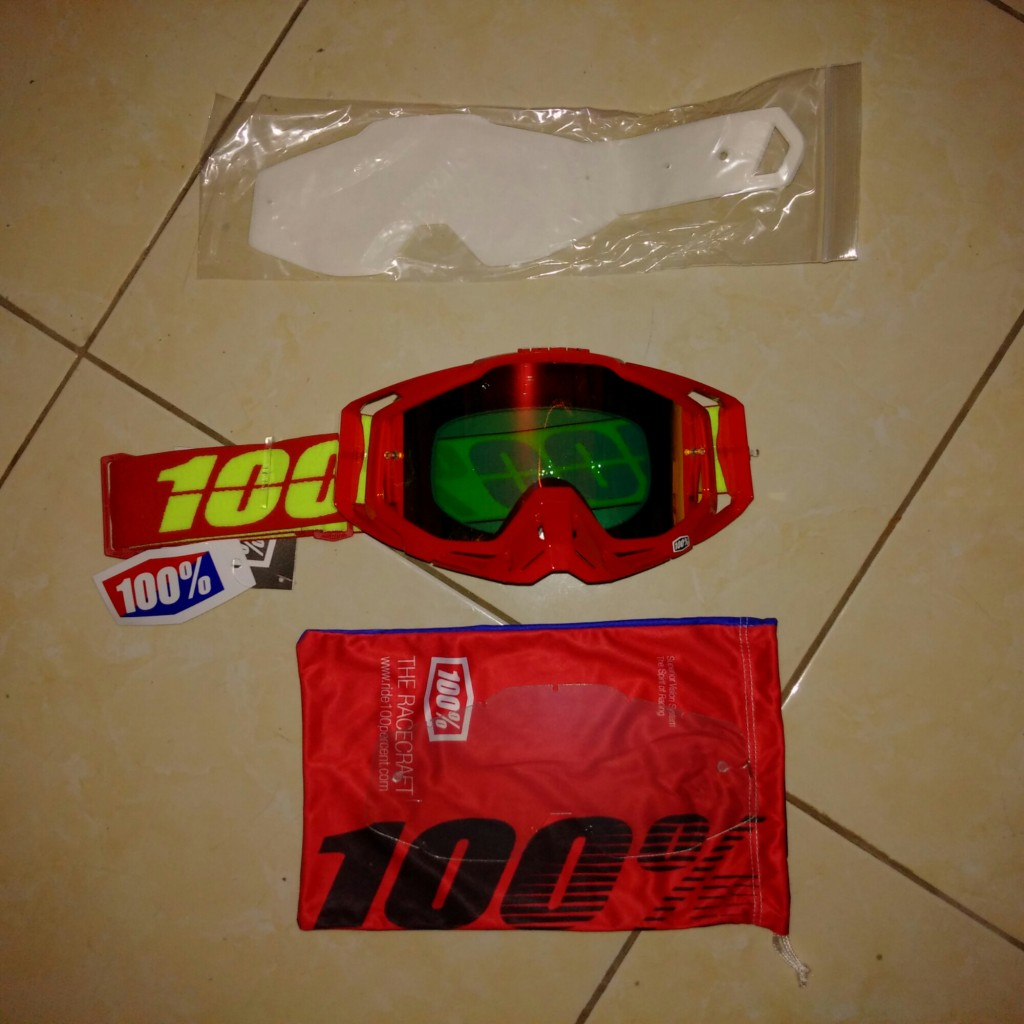 Jual Goggle race craft corvette mirror Red lens