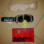 jual Goggle race craft st barth mirror green lens