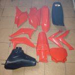 Jual Cover body crf 230F 2015/16 bahan plstk SND wrna merah,hitam,putih bisa untuk crf 230f 2004 s/d 2014