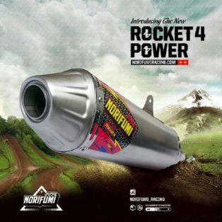 Knalpot kawasaki klx 250/dtracker 250 merk norifumi rocket 4 Rp.3000.000