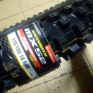Jual BAN DUNLOP MX 52 uk 110/100 uk 18 belakang Rp,1.400,000