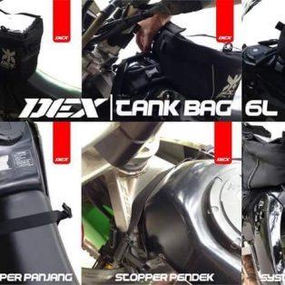 Jual tank bag untuk semua motor trail, fungsi untuk menaruh hp, oil, air mineral dll merx DEX harga Rp 335.000