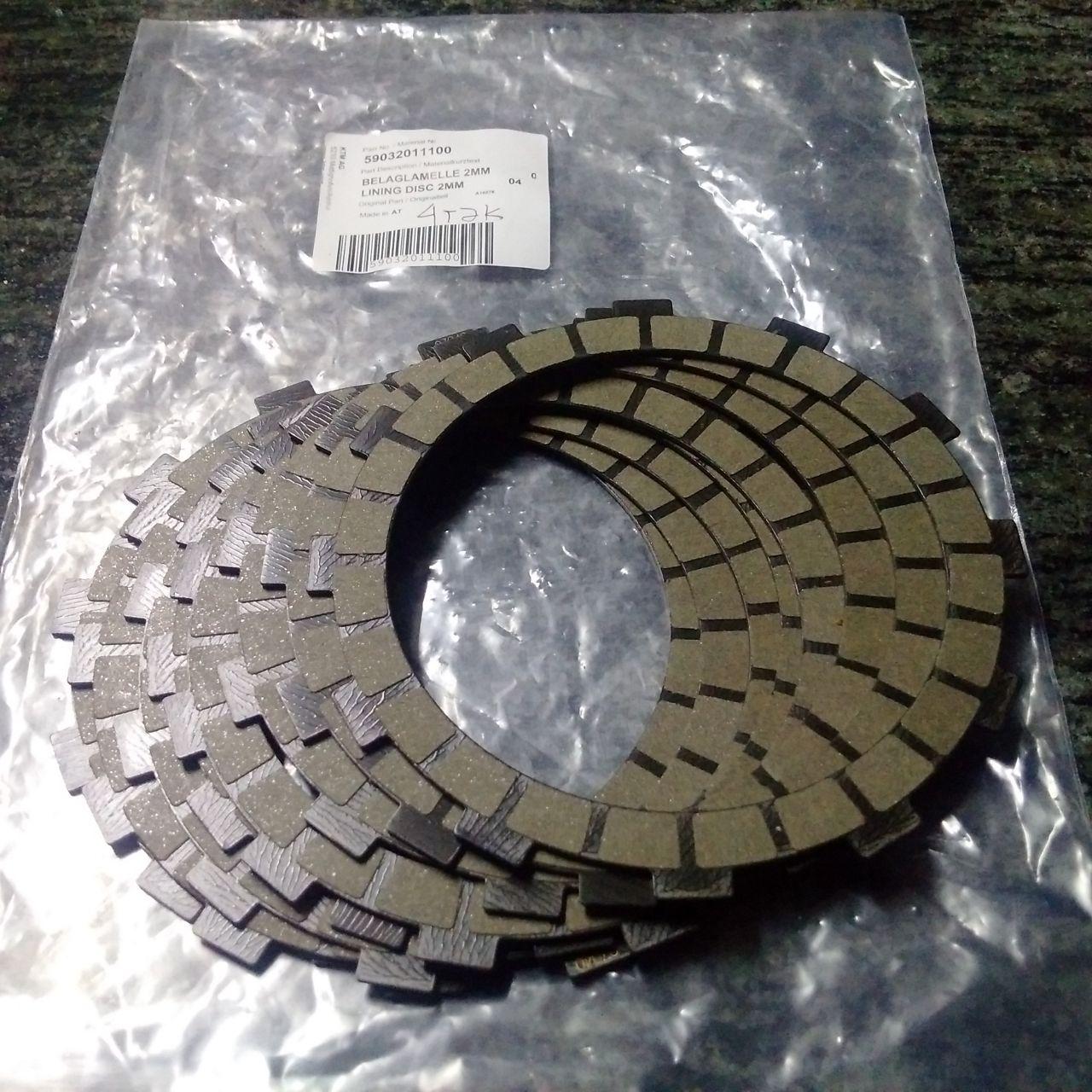 wpid wp 14824932964491 JualLining dISC 2mm ato kampas kopling kode parts 59032011100 untuk KTM 350cc original PARTS Rp.2,300,000