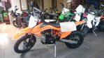 JualMini moto 110 cc 4 tak body sama persis ktm 2017/2018 ukuran ban dpn 14 belakang 18 Rp.8,750,000 wa 0878.89.100.200 wrna orange dan putih