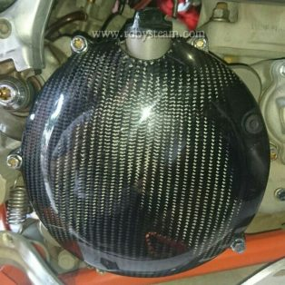 JualCover kopling ktm,husqvarna 250/300 two stroke bahan carbon Rp.700.000