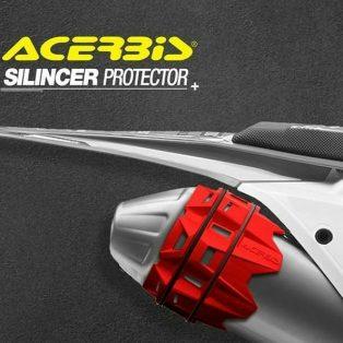 JualProtector silincer knalpot 4t dan 2t merk acerbis Rp.500.000 warna merah,hijau,hitam,kuning
