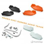 Promo cuci gudang akhir tahun !!! Promo Handguard alu  ktm untuk stang fatbar kode parts 7650297900004 ada 3 warna orange,hitam,putih hanya Rp 600rb rupiah saja.